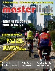 WHAT'S IN YOUR BAG? - the Bicycle Touring Club of North Jersey