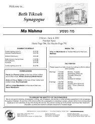June 4, 2011 - Beth Tikvah Synagogue, Toronto