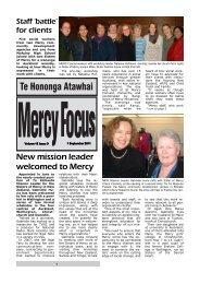 MF Sept11 A4.pub - Sisters of Mercy of Aotearoa New Zealand