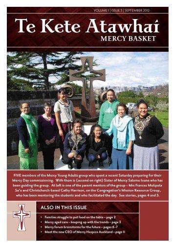 Te Kete Atawhai Volume 1 Issue 3 September 2012