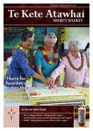 Te Kete Atawhai Volume 1 Issue 2 March 2012 - Sisters of Mercy of ...