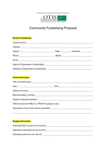 fundraising from a z introduction to successful project proposal