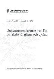 Universitetsstuderande med läs- och skrivsvårigheter ... - Peddan.se