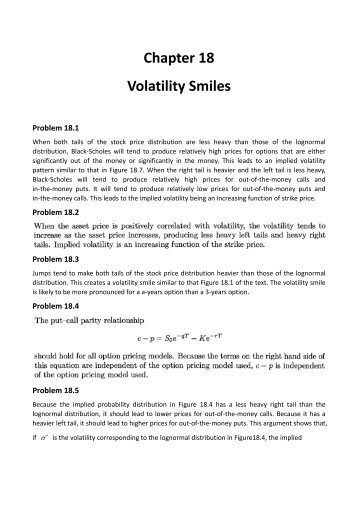 Fx options smile