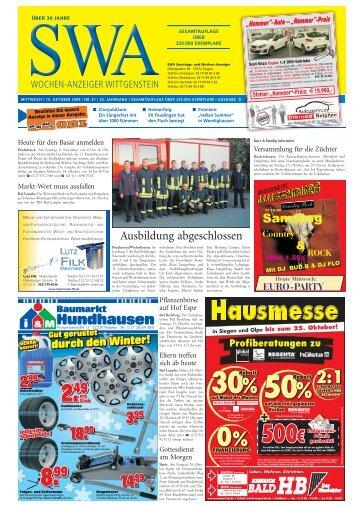 18. oktober 2009 - Siegerländer Wochen-Anzeiger