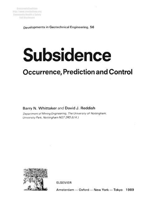 Subsidence arising from ground-water withdrawal, oil and gas