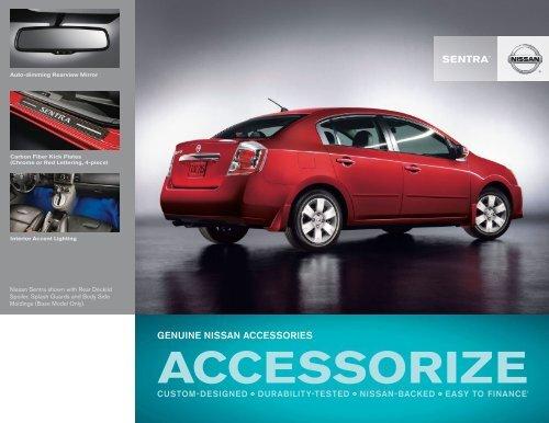 2012 Nissan Sentra | Accessories Brochure | Nissan USA