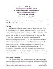 Garlic (Allium sativum) - Longwood Herbal Task Force