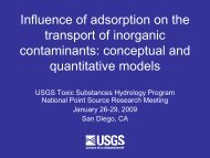Presentation Slides - pdf - USGS Toxic Substances Hydrology ...
