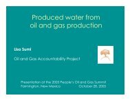 Produced water from oil and gas production - Earthworks