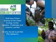 Multi-taxa Citizen Science at the Urban Ecology Center Update