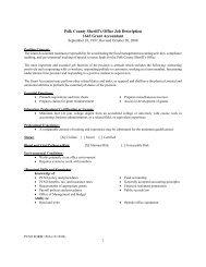 1 Polk County Sheriff's Office Job Description 1643 Grant Accountant