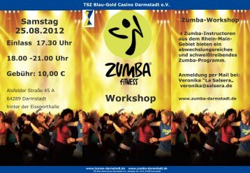 Zumba-Workshop - TSZ Blau-Gold Casino Darmstadt eV