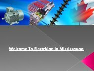 Welcome To Electrician in Mississauga