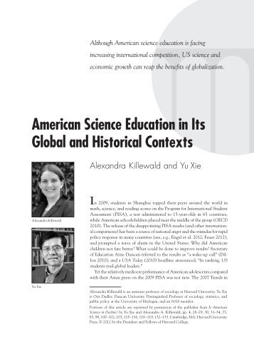 American Science Education in Its Global and Historical Contexts