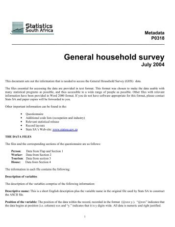 General household survey - Population Studies Center