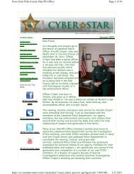 January 2012 Cyber Star - Polk County Sheriff's Office