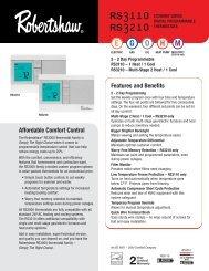 Uni-Line® Website Resources - Robertshaw Thermostats