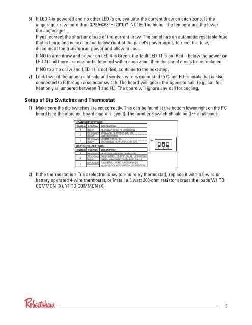 identifying led indicator classic zone panels robertshaw thermostats