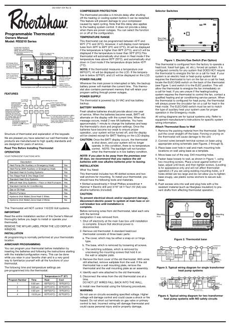 robert shaw thermostat wiring diagram programmable thermostat robertshaw thermostats  programmable thermostat robertshaw