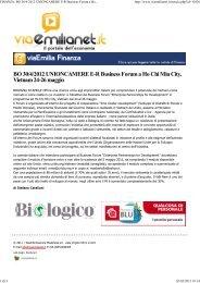 FINANZA: BO 30/4/2012 UNIONCAMERE E-R Business Forum a Ho Chi Min ...