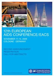 12th EuropEan aIDS ConfErEnCE / EaCS
