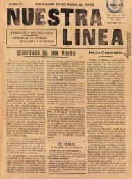 Nuestra Línea del 17 de julio de 1925