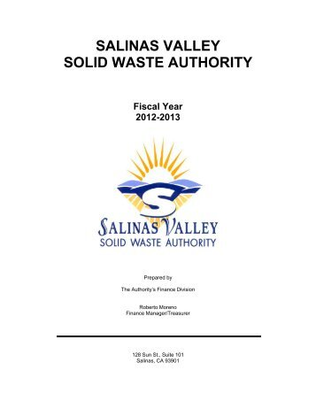 Budget Document FY 2012-13 - Salinas Valley Solid Waste Authority