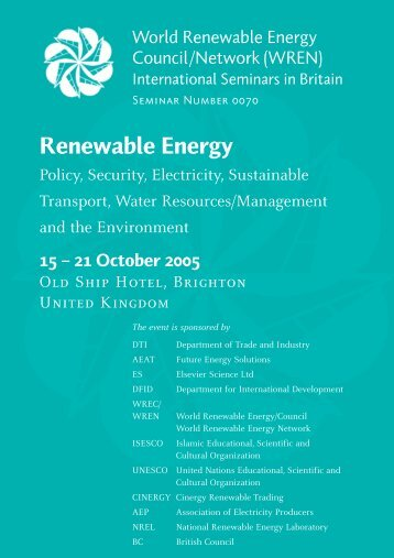 International - World Renewable Energy Congress / Network ...