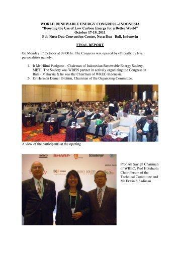 Indonesia 2012 - World Renewable Energy Congress / Network ...