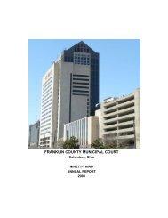 2008 Annual Report - Franklin County Municipal Court