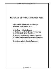 MATERIJAL UZ TOČKU 2. DNEVNOG REDA ... - Grad Čakovec