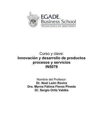 Innovación y desarrollo de productos procesos y servicios IN5079
