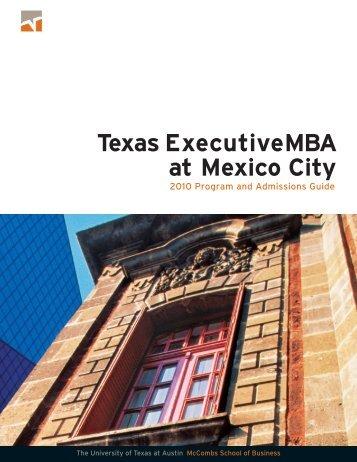 Texas ExecutiveMBA at Mexico City - Santa Fe - Tecnológico de ...