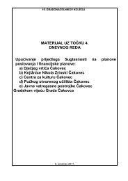 MATERIJAL UZ TOČKU 4. DNEVNOG REDA ... - Grad Čakovec