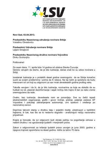 Novi Sad, 10 - Liga socijaldemokrata Vojvodine