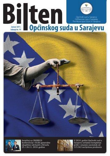 OSS bilten 19.indd - Općinski sud u Sarajevu