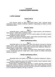 Zakon o inspekcijskom nadzoru - NVO Green Home