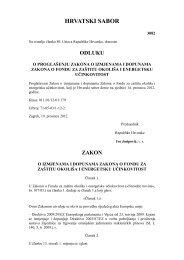 Zakon o izmjenama i dopunama Zakona o Fondu za ... - HROTE