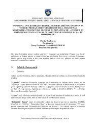 Pravila Tendera za Privatizaciju Novog Preduzeça Vernica D.O.O.