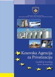 KAP - Godišnji izveštaj 2010 god. - Agjencia Kosovare e Privatizimit