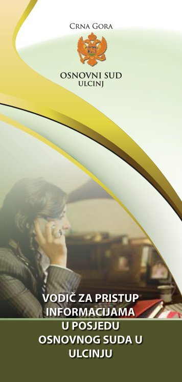 vodič za pristup informacijama u posjedu osnovnog suda u ulcinju