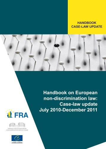Handbook on European non-discrimination law: Case-law update ...