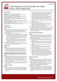 116-0102 Uvjeti za osiguranje od rizika prekida rada zbog - Kelta