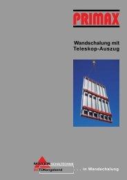 Wandschalung mit Teleskop-Auszug - Mayer Schaltechnik GmbH