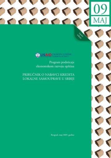 Prirucnik o nabavci kredita lokalne samouprave u Srbiji