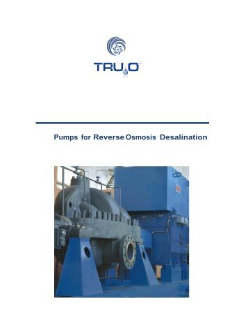 Pumps for Reverse Osmosis Desalination - Tru20