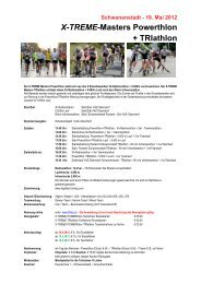 X-TREME-Masters Powerthlon + TRIathlon - ASM-Events