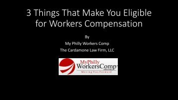 3 Things That Make You Eligible for Workers Compensation