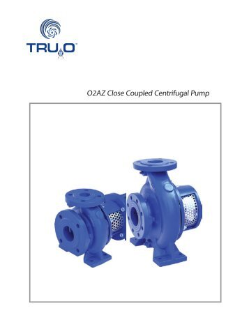 O2AZ Close Coupled Centrifugal Pump - Tru20
